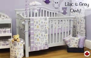Hooty lilac customizable crib bedding set savvy mom finds