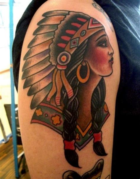 traditional native american tattoos traditional american with a dress