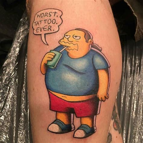 the simpsons tattoo davemantattoos quot worst thank youuuu