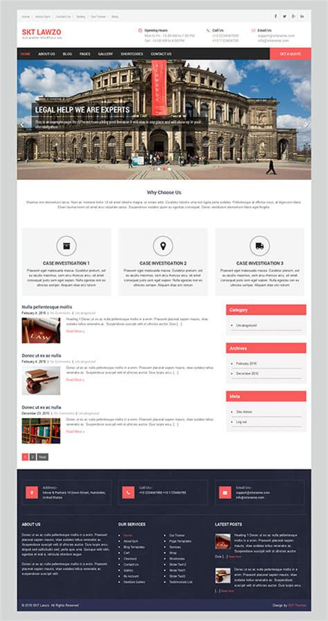 theme wordpress free legal free lawyer wordpress theme for attorneys law firms and legal