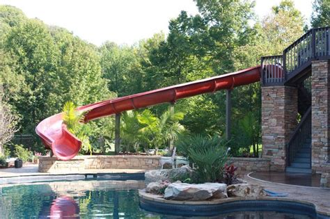 backyard waterslide giant backyard water slide outdoor furniture design and ideas
