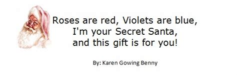 secret poems for friends secret santa poems clever sayings projects to try