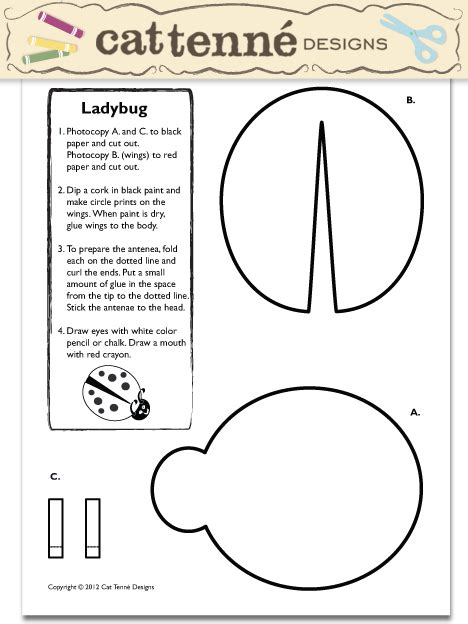pattern craft activities free lady bug craft pattern ladybug pinterest lady