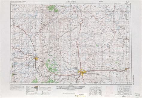 physical map of wyoming cheyenne topographic maps wy ne usgs topo 41104a1