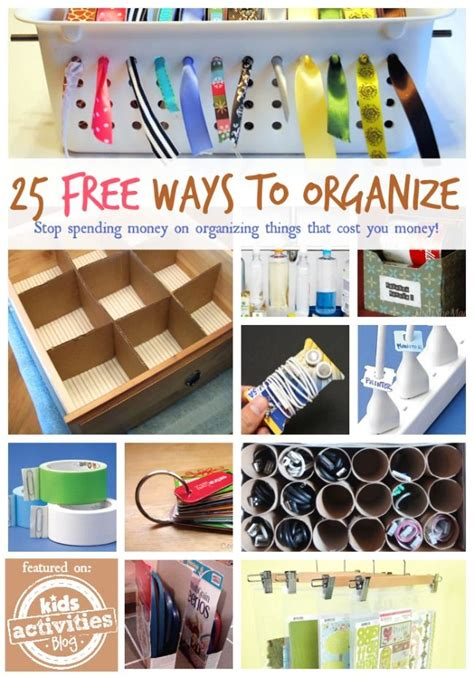 ways to organize your house 25 free ways to organize your home