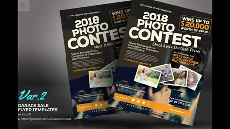 photo contest flyer template photo contest flyer templates