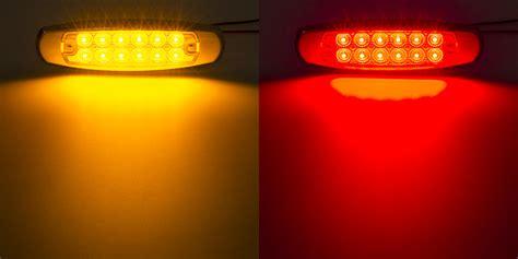 amber led marker lights low profile peterbilt led truck and trailer lights 6