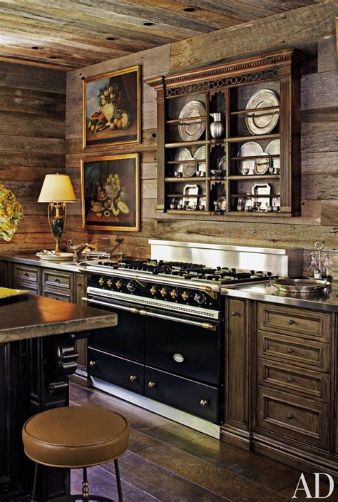 Black Island Kitchen by Rustic Kitchens Design Ideas Tips Amp Inspiration