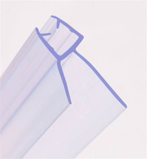 Shower Door Plastic Seal Bath Shower Screen Rubber Plastic Seal 4 10mm Glass Door 3 35mm Gap Curved Flat Ebay