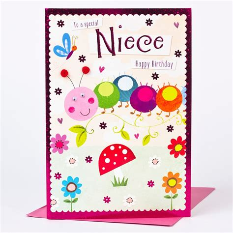 Birthday Cards For Nieces Birthday Card Niece Friendly Caterpillar Only 163 1 49