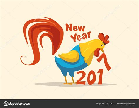 new year what does rooster new year symbol rooster vector illustration