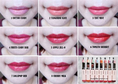 Laneige Lip Tint review swatches laneige two tone tint lip bar all 8