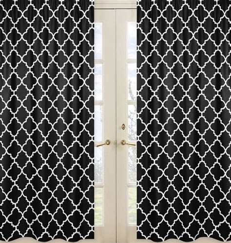 Black And White Lattice Curtains Black And White Trellis Collection Lattice Window Treatment Panels Set Of 2 Only 54 99