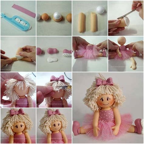 diy step by step projects how to make polymer clay ballerina biscuit step by step