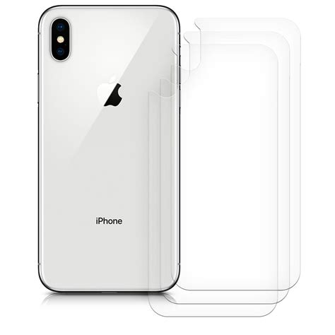 3x rear protector for apple iphone xs max back protection foil phone 4057665407084 ebay