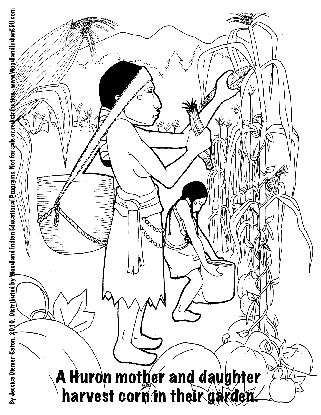 image indian and pilgrim coloring sheets coloring page