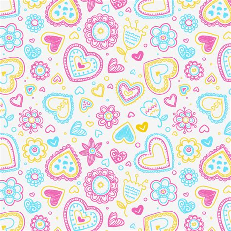 valentine pattern vector valentine s day hearts and flowers pattern vector