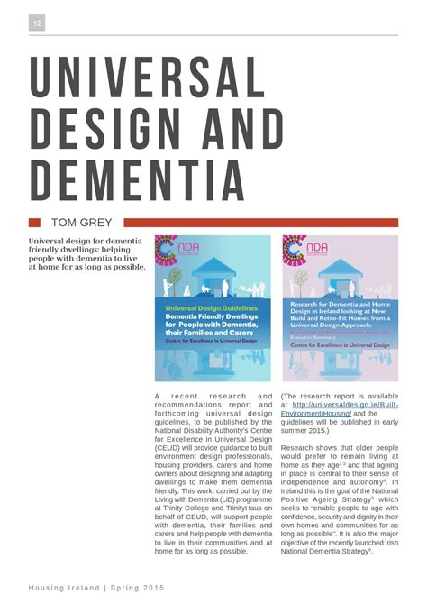 Design Dementia Guidelines | t grey universal design and dementia housing ireland