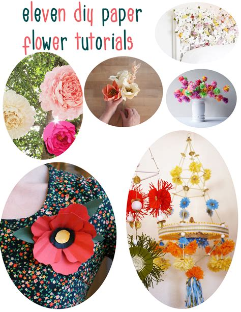 Handmade Paper Flowers Tutorial - 11 diy paper flower tutorials dear handmade