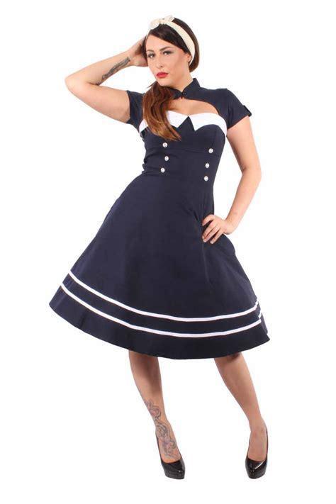 swing bolero blau pin up sailor retro rockabilly bolero swing kleid
