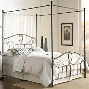 Canopy Bed Frame Sylvania Iron Canopy Bed In Roast By Fashion Bed