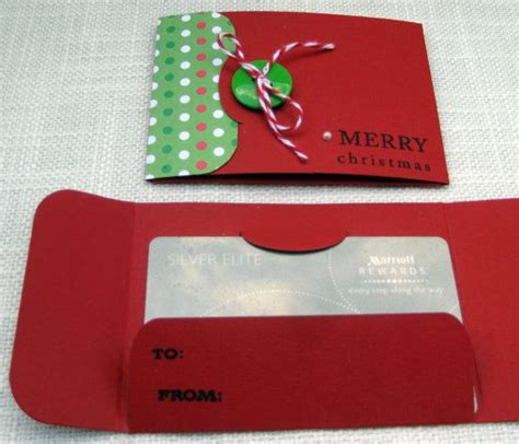 Homemade Gift Cards - handmade christmas gift card holders set of 3 holiday red green
