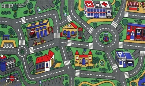 carpet city rugs city roads rug 5 sizes childrens car play mat streets