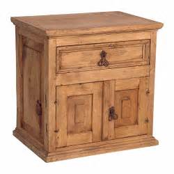 Mexican pine nightstand tres amigos world imports