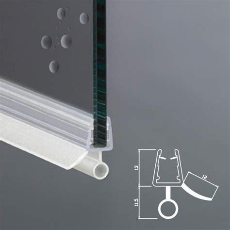 guarnizione porta doccia gocciolatoio per box doccia per vetri di spessore 6 e 8 mm