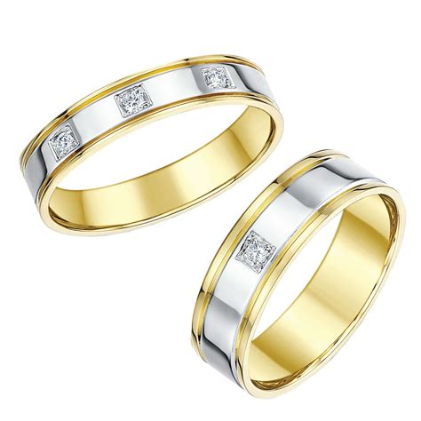 matching yellow gold wedding ring sets his hers sets