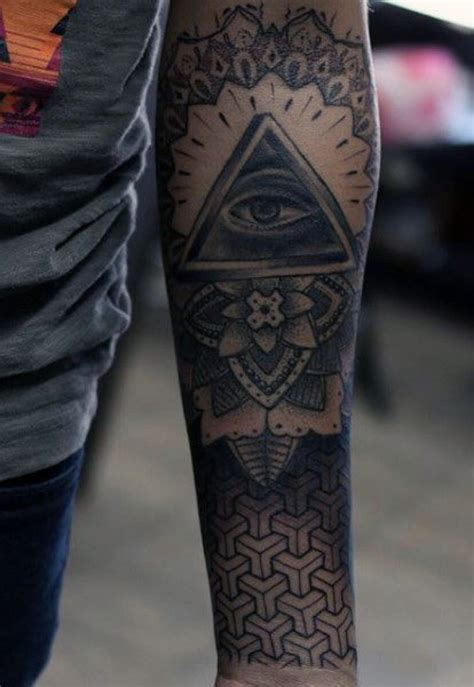 geometric forearm tattoo the most geometric forearm with regard