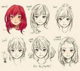 names of anime inspired hair styles different anime hair styles manga sheets pinterest