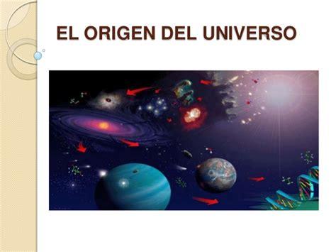 el origen del universo moni