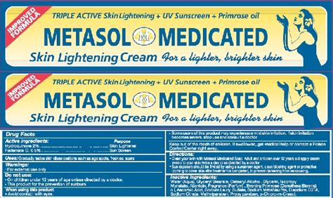 Skin Lightening Products May Pulled Cosmetic Counter by Metasol Skin Lightening Hydroquinone And Padimate O
