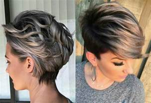 silver highlighted hair styles vivacious short pixie haircuts with highlights hairdrome com