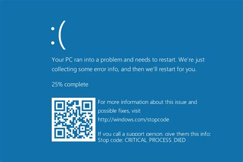 install windows 10 blue screen microsoft adds qr codes to the windows 10 blue screen of