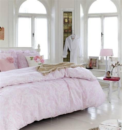 shabby chic ideen für schlafzimmer gestalten pastell farben gestalten einrichtungsideen rosa