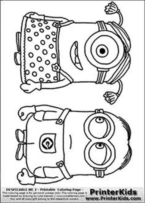 kleurplaten minions despicable me 2 minion 2 dress kleurplaten minions despicable me 2 minion 2 dress