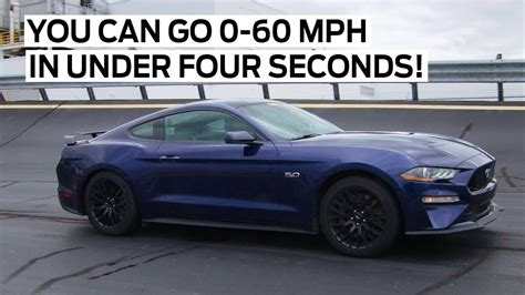 ford mustang gt 2018 from 0 to 60 mph in less than 4 seconds