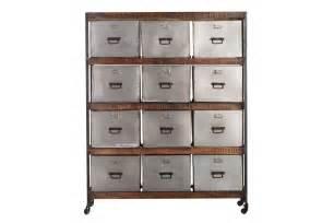 meuble de rangement design 12 tiroirs loft miliboo