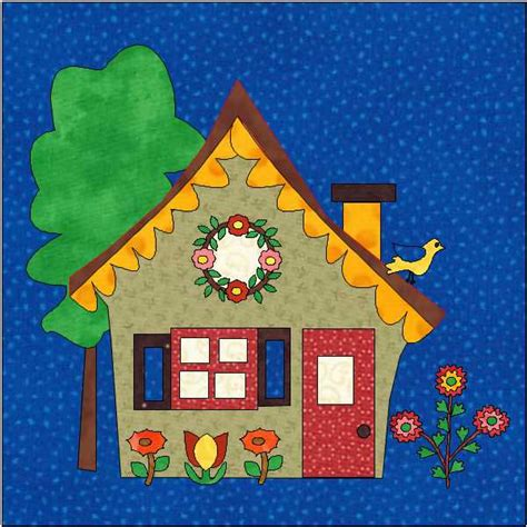 House Quilt Blocks Free by House Quilt Block Pdf Instant House