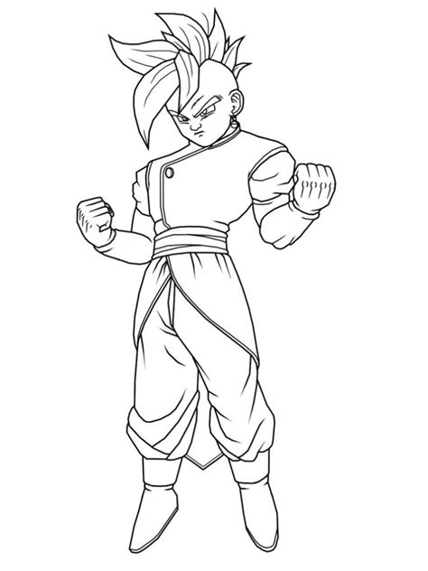 dragon ball z christmas coloring pages free printable dragon ball z coloring pages for kids