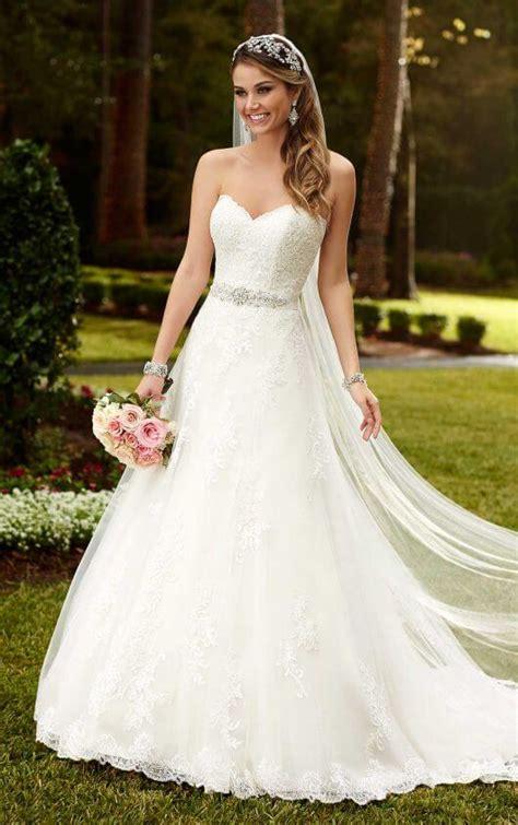 845 Line Dress satin a line princess wedding dresses stella york