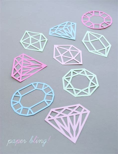 How To Make Diamonds Out Of Paper - 25 best ideas about paper on diy