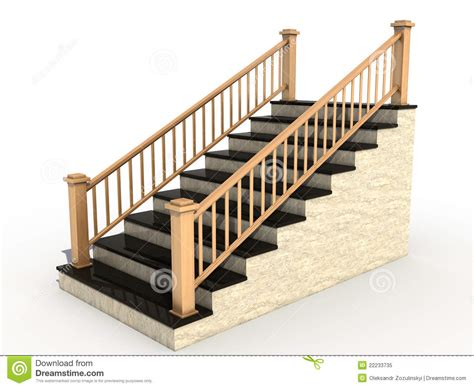 Wooden Banister Rails Marble Staircase With Wooden Handrail 3 Royalty Free