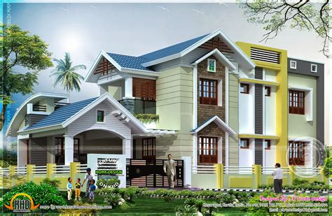 house and design 2401 square house renderings kerala home design and floor plans
