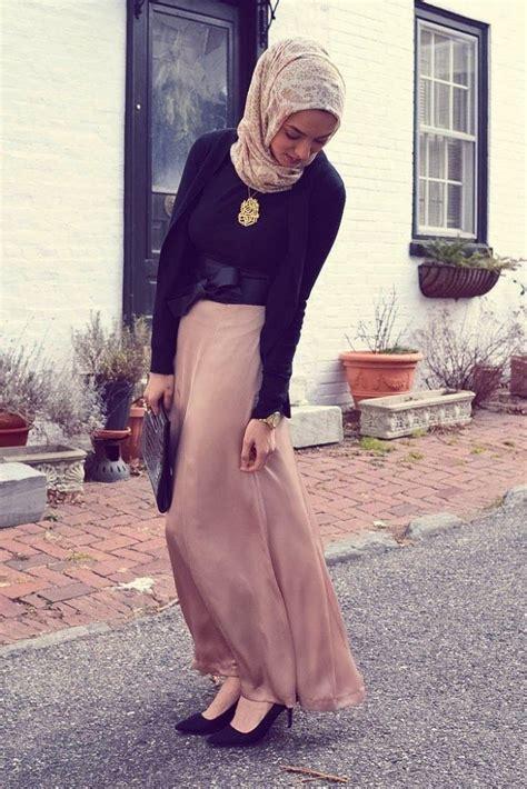 hijab maxi style  chic ways  wear hijab  maxi dress