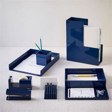 Accessories For Office Desk Color Pop Office Accessories Navy West Elm