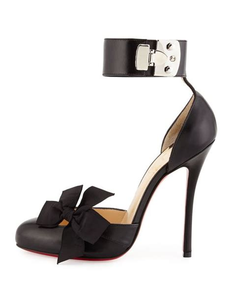 Sandal Heels D Or Christian 350 christian louboutin bow d orsay leather pumps in