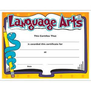 jones certificate templates language arts colorful certificate jones school supply
